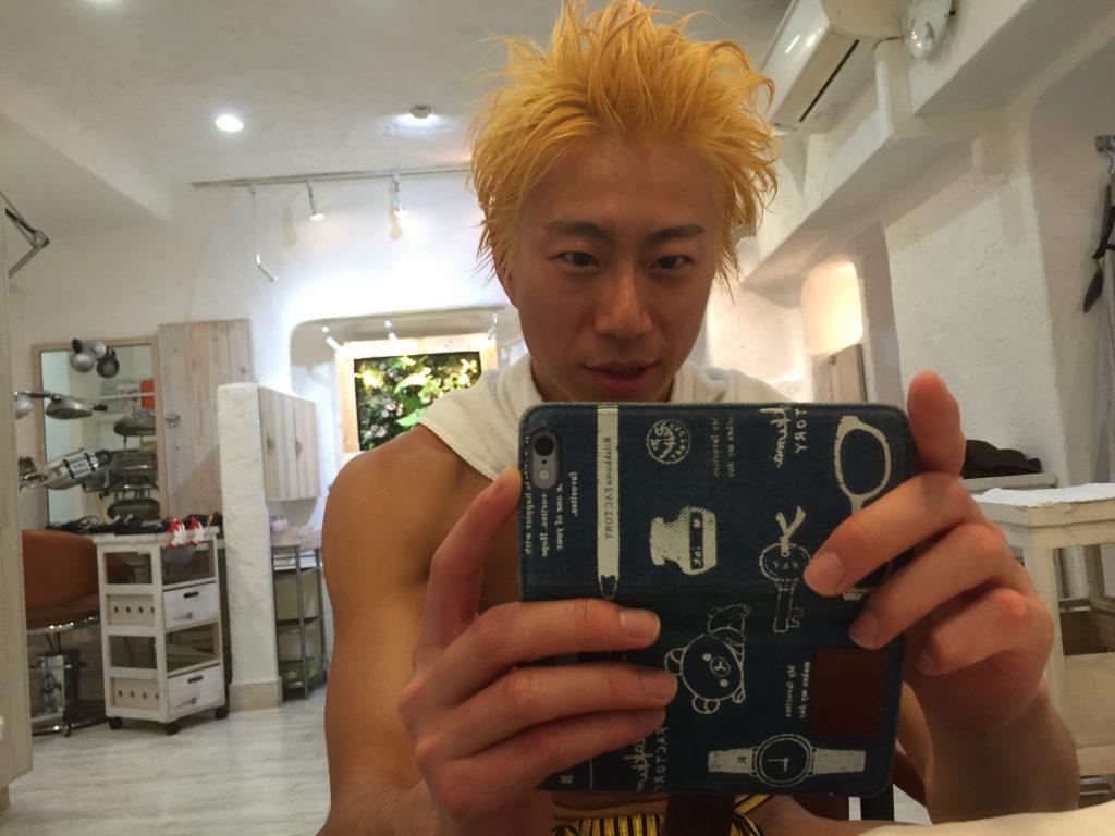 fundoshiman-hairdyeing-gold