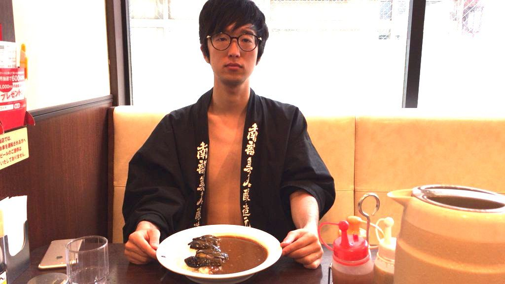 fundoshi-socrates-eating-5spicycurry-with-5sweet-topping
